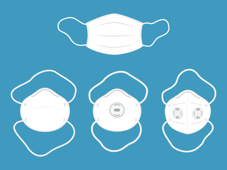 Vector illustration of collection Medical mask or Protective mask isolated on background Vector Illustration