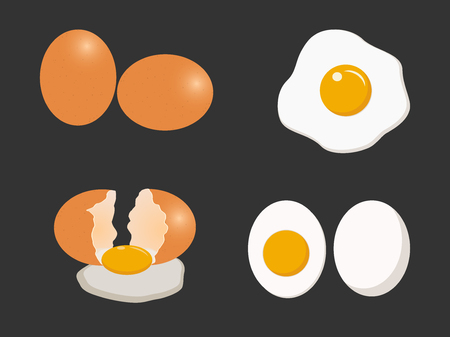 Egg vector set isolated on white background - Vector illustration Archivio Fotografico - 119462363