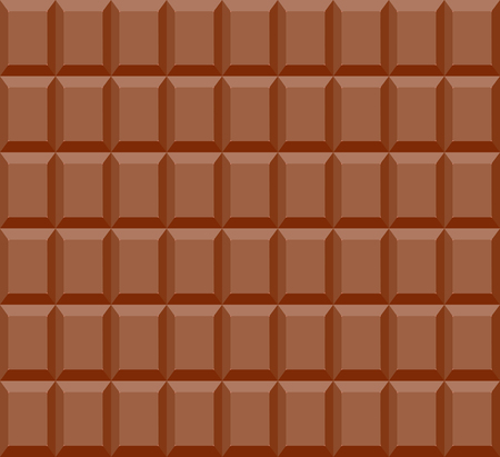 Seamless pattern of chocolate bar background - Vector illustration Illustration