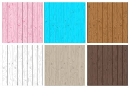 Collection of light and dark wooden texture seamless pattern set - Vector illustration.