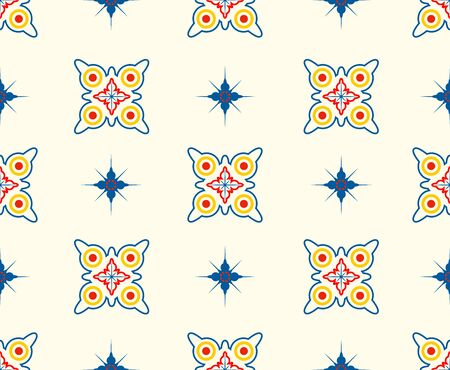 Seamless pattern of colorful abstract shape modern on white background - Vector illustration