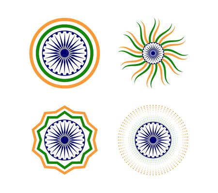 Happy Indian Republic day element icon set -  Vector illustration