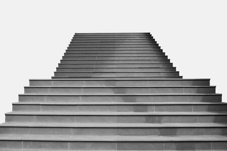 Abstract image : Front view architecture of concrete staircase isolated on grey background. Stock fotó
