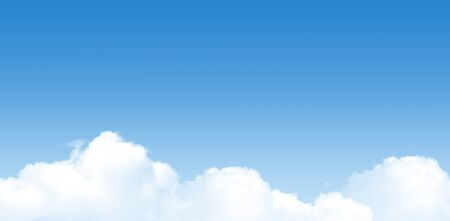 Beautiful blurry white clouds with blue sky in summer seasonal. Stok Fotoğraf