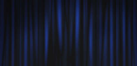 Abstract image of Blue curtain fabric texture background.