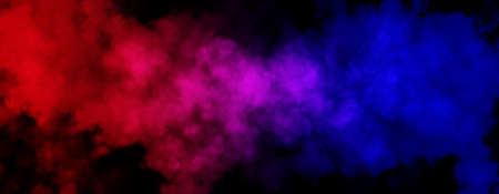 Abstract image of Fog or smoke with red and blue lighting effect in black background. 版權商用圖片