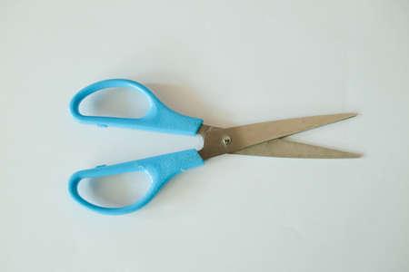 Big scissor with blue handle