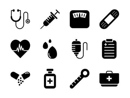 Medical Icon Set Glyph Style