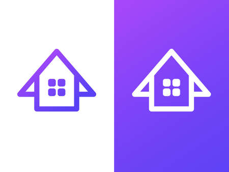 House company logo template with gradient style 向量圖像