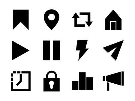 Social Media UI Icon Set Glyph Style