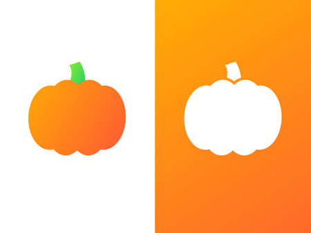 Pumpkin company logo template with gradient style.