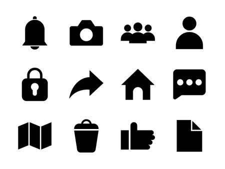 Essential Icon Set Glyph Style
