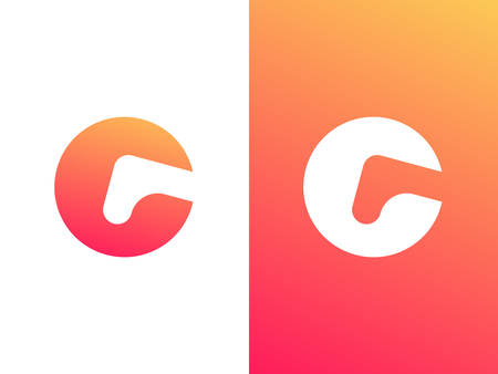 Letter G logo design for brand and company with gradient style.