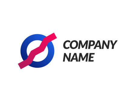 Company logo template for brand and company with gradient style.  イラスト・ベクター素材