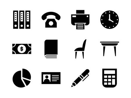 Business icon set with glyph style. Suitable for any purpose.