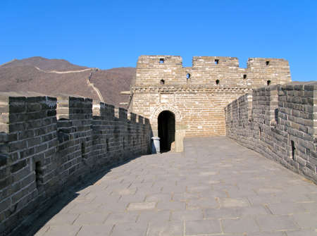 watchtower: Watchtower on the Great Wall of China near Beijing, China. Stock Photo
