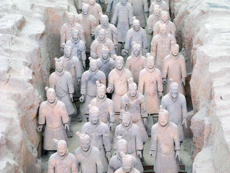 far eastern: Terracotta Warriors buried with the Emperor of Qin in 209-210 BC in Xian, China.