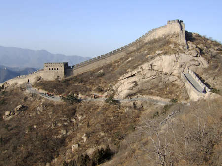 mongols: Great Wall of China Stock Photo
