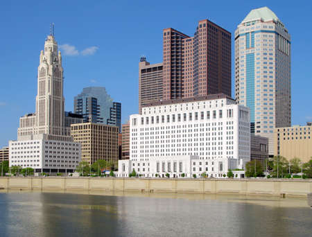columbus: Downtown Columbus, Ohio and the Scioto River.