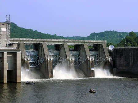 Cordell Hull Dam near Carthage, Tennessee.