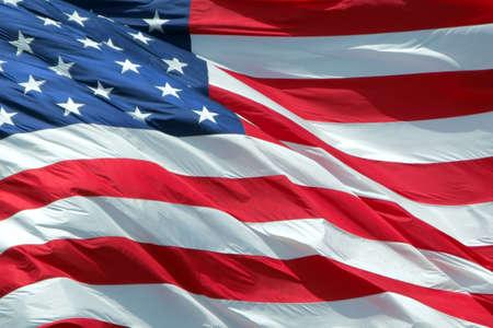 Waving American Flag. Stock Photo - 3293874