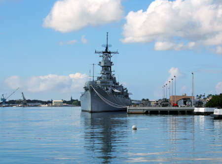 oahu: Battleship Missouri Memorial at Pearl Harbor in Honolulu on the island of Oahu in Hawaii.