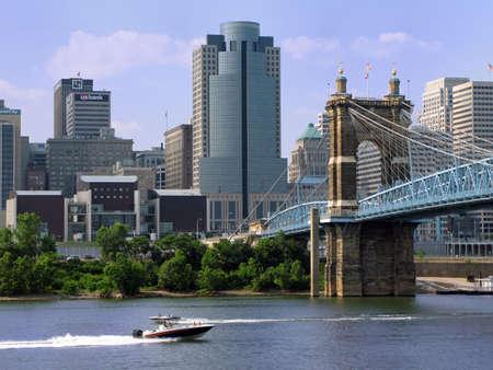 ohio: View of the Ohio River and Cincinnati skyline.