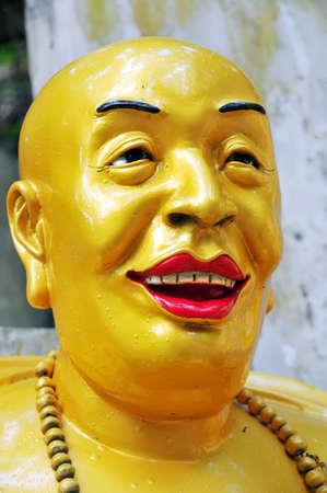buddha image: Buddha statue at the Monastery of Ten Thousand Buddhas (Man Fat Tsz) in Shatin, Hong Kong.