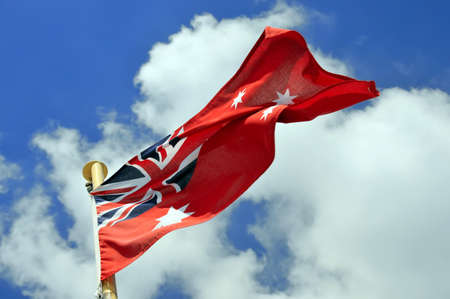 merchant: Australian Red Ensign used as the merchant shipping flag.