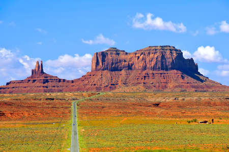 Highway 163 approaching Monument Valley photo