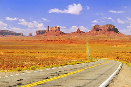 Highway 163 approaching Monument Valley. Stock Photo - 4656801