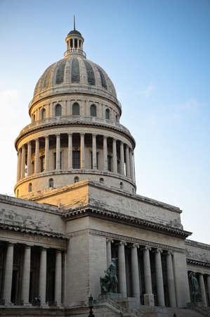 capitolio: The National Capitol Building of Cuba in Havana, Cuba  Stock Photo