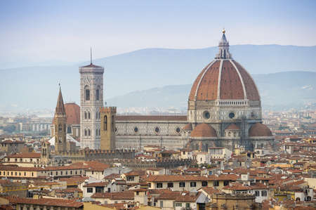 View of Florence, Italy with the Florence Cathedral