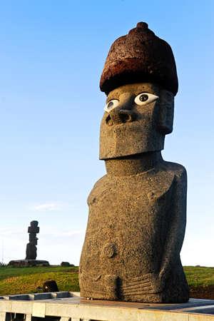 moai: Moai on Easter Island, Chile