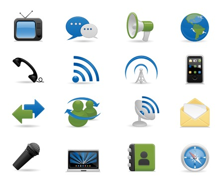 mobilephone: Communication icons set