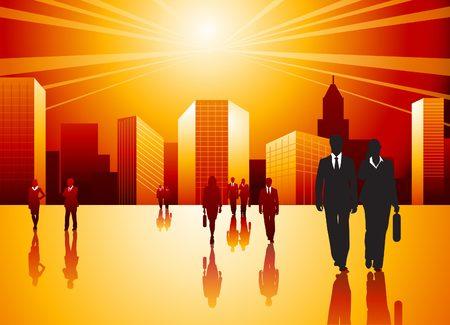 Urban Professionals Stock Vector - 5877729