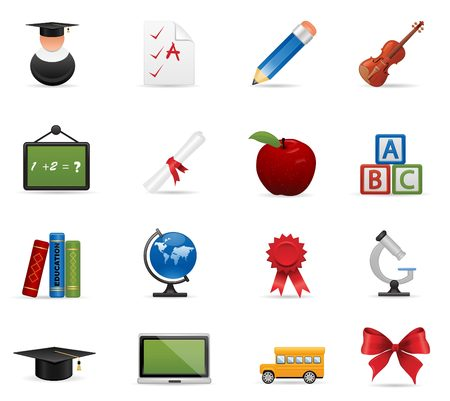 Eduacation icon set Illustration