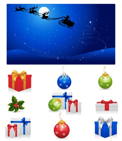 Christmas Icon Set Stock Vector - 5942565