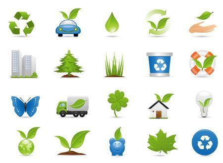 Environment Icon Set Stock Vector - 5943019