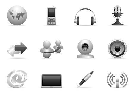 mobilephone: communication icons set