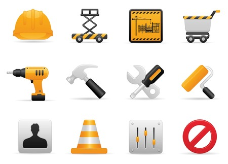 construction icon set Stock Vector - 6009262