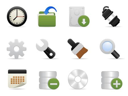 Tools and Setting Icon Set Stock Vector - 6009263