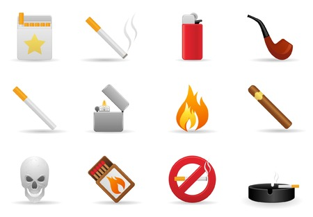 Smoking Icon Set Vector