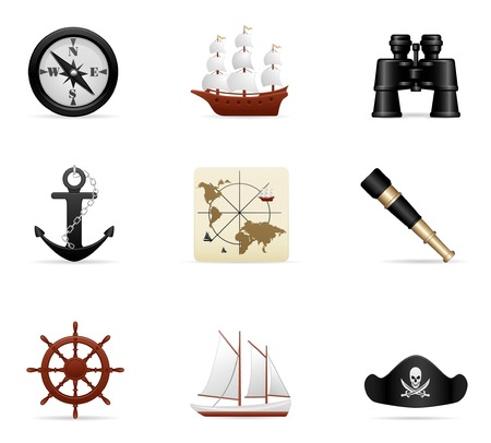 Naval Voyage Icon Set