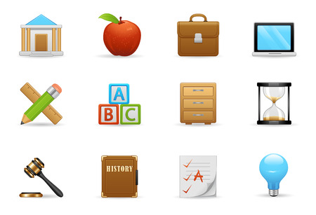 alphabetical order: Education Icons Were Designed For Your Website Or Application