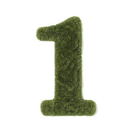 grass font - number 1