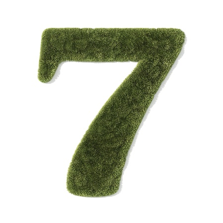 grass font - number 7 Stock Photo - 8574629