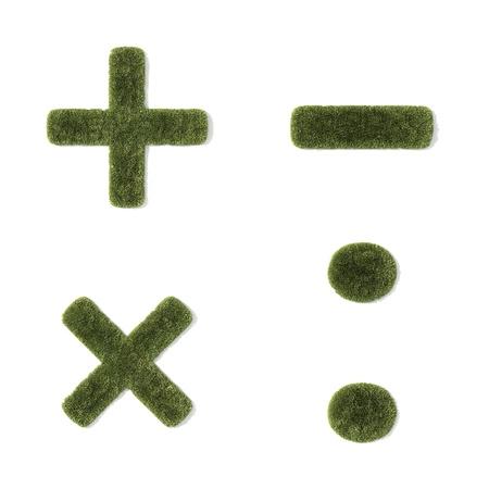 grass font - mathematical symbols photo