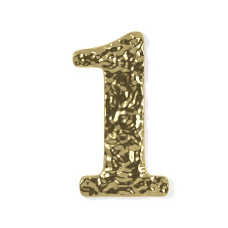 gold font - number 1 Stock Photo