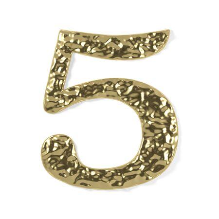 gold font - number 5 photo